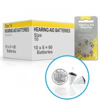 Hearing Aid Batteries for NANO® Hearing Aid - Size 10 (60 pcs)