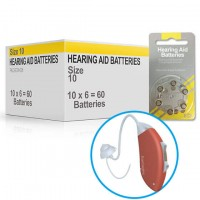 Hearing Aid Batteries for SMART® Hearing Aid - Size 10 (60 pcs)