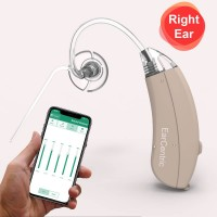EarCentric Linkx Wireless Bluetooth Hearing Aids with FREE Mobile App for iOS and Android - Right Ear - Beige - Size-13 Battery