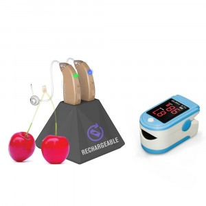 Rechargeable Hearing Aids EasyCharge - Buy A Pair and Get Fingertip Pulse Oximeter FREE