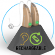 EasyCharge2 Rechargeable Hearing Aids - 4 Channel Processor and Dual Directional Microphone