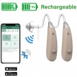 Rechargeable Wireless Bluetooth Hearing Aids with FREE Mobile App for iOS and Android - EarCentric Linkx