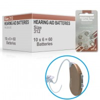 Hearing Aid Batteries for CLARITY200® Hearing Aid - Size 312 (60 pcs)