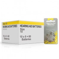 Size 10 Hearing Aid Batteries (box 60 pcs)