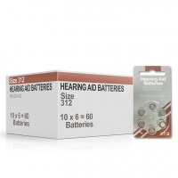 Size 312 Hearing Aid Batteries (box 60 pcs)