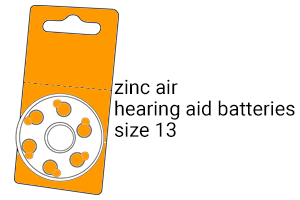 EA40 hearing aid size-13 hearing aid batteries